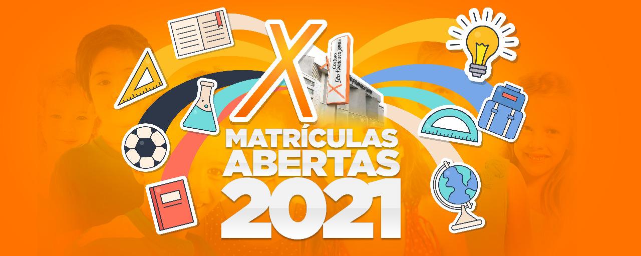 Matrículas abertas 2021