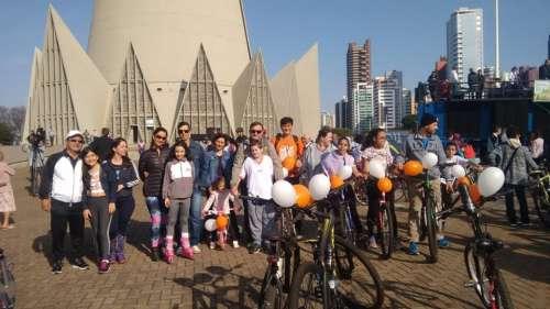Colégio participa do 9º Passeio Ciclístico promovido pela Arquidiocese de Maringá